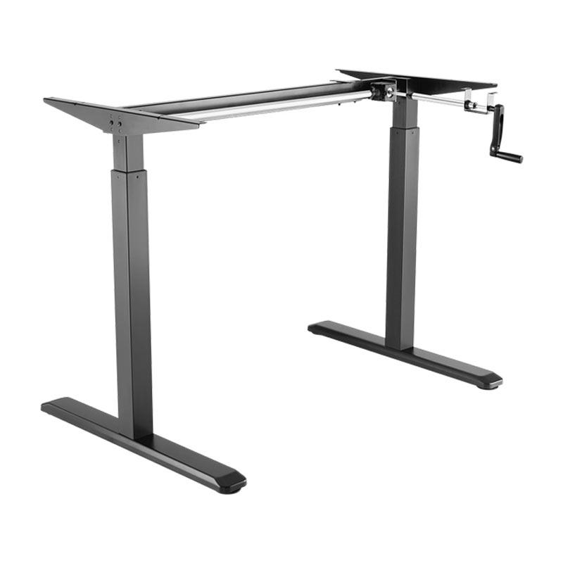 Schreibtisch manuell höhenverstellbar Schwarz