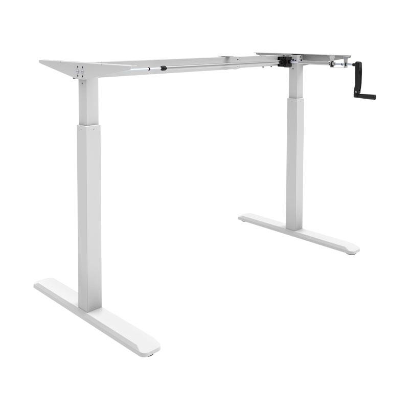 Schreibtisch manuell höhenverstellbar Weiß