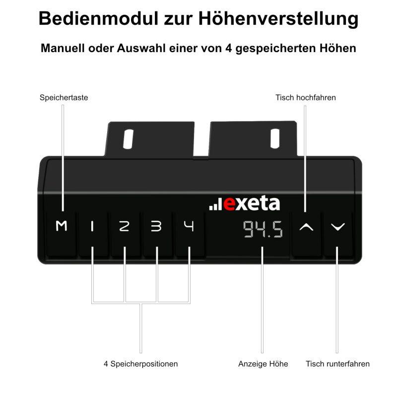 exeta ergoECK - Bedienmodul zur Höhenverstellung