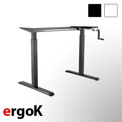 exeta ergoK - manuell höhenverstellbarer Schreibtisch