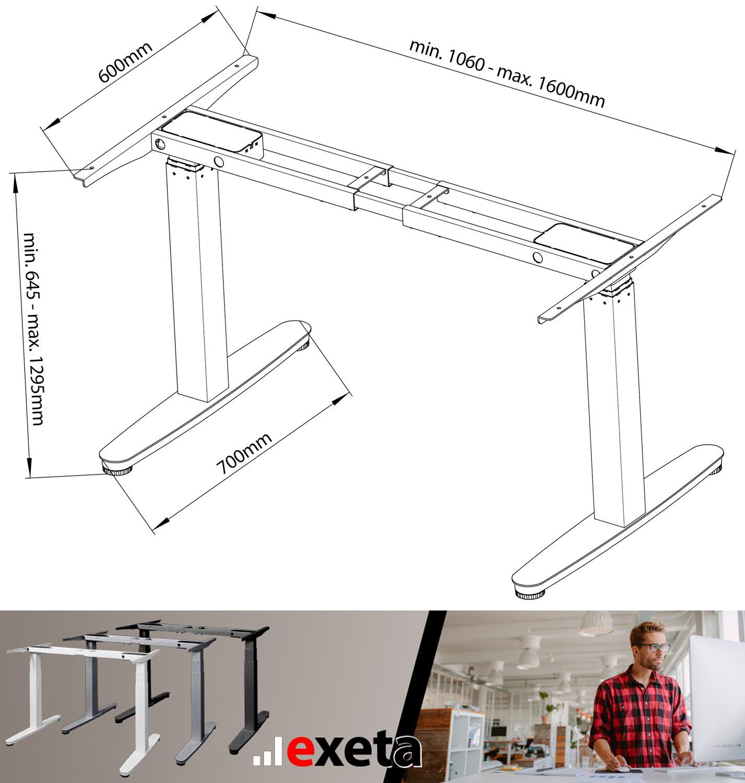 Exeta Ergosmart Elektrisch Höhenverstellbarer Sitz Steh Schreibtisch