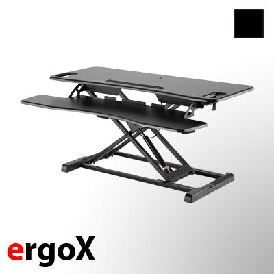 exeta ergoX - manuell höhenverstellbarer Tischaufsatz auf der-ergotisch.de kaufen