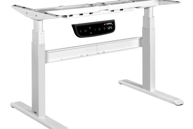 Das elektrisch stufenlos höhenverstellbare Tischgestell