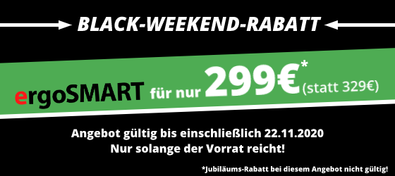 ergoSMART Black-Weekend-Rabatt