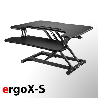 exeta ergoX-S manuell höhenverstellbarer Tischaufsatz auf der-ergotisch.de kaufen